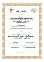 Certyfik 1